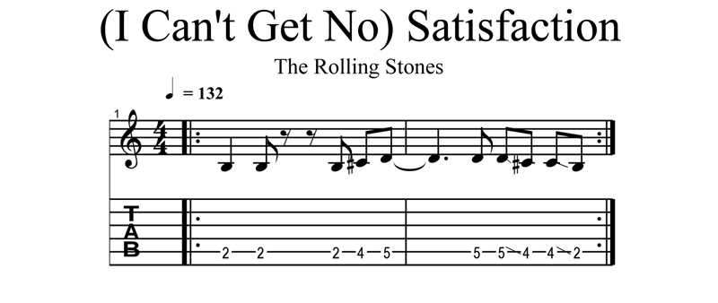 Easy classic rock guitar